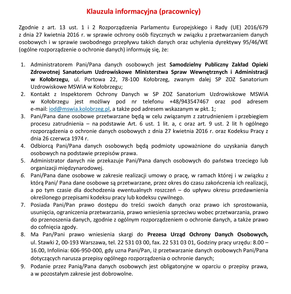 Polityka prywatności cz.2